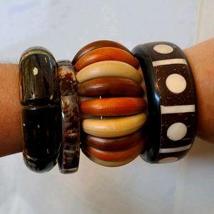 4 Vintage Bangle Bracelets
